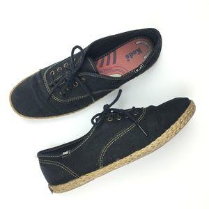 Keds Champion Black Espadrille Jute CVO Sneakers
